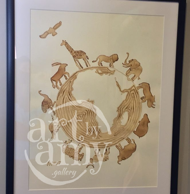 African Peace Animals – CoffeeART