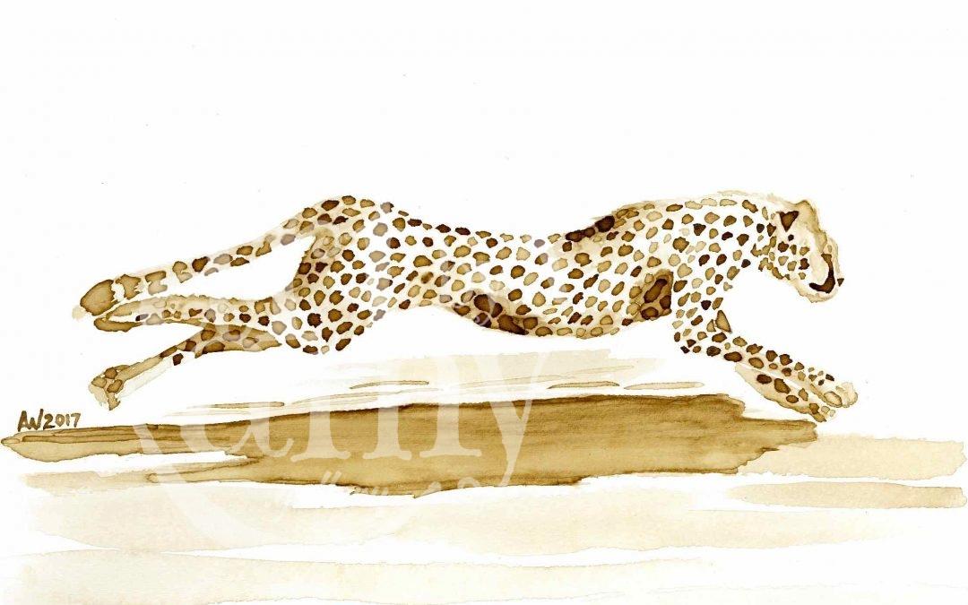 Cheetah CoffeeART Donation Artwork
