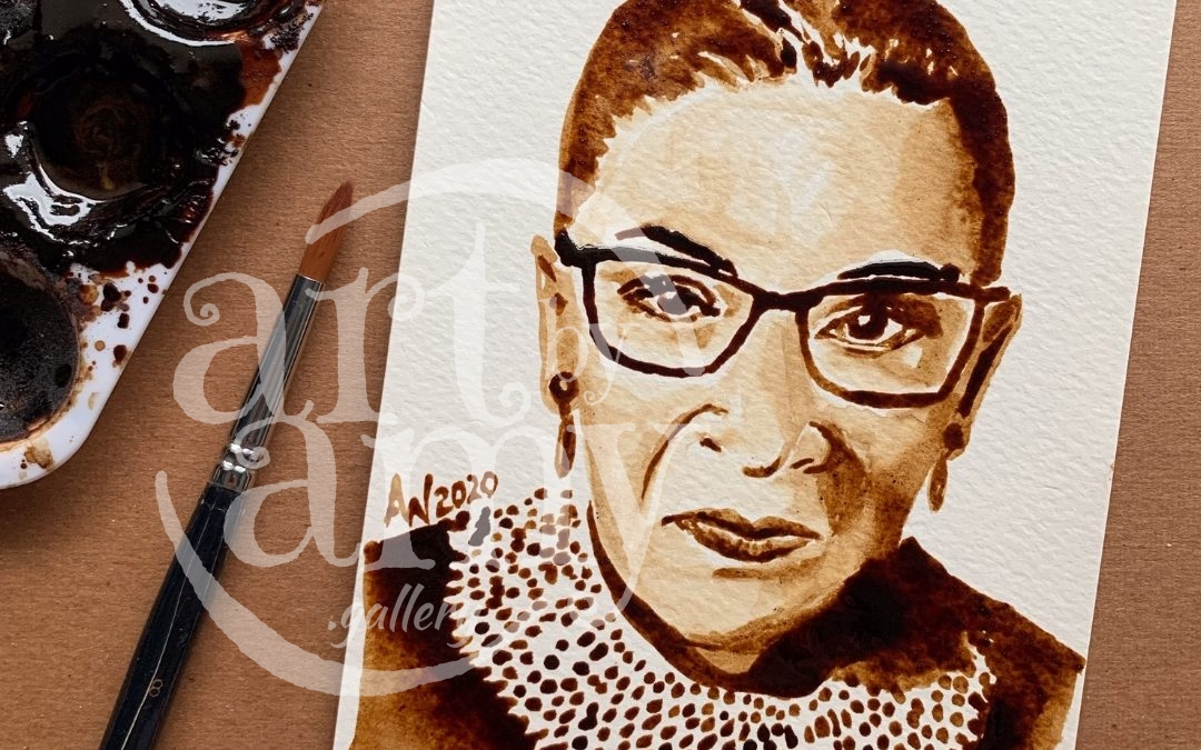 Ruth Bader Ginsberg CoffeeART Originals